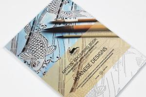 Carte de colorat Artist - Japanese Designs Pepin