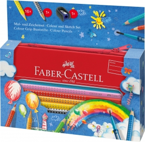 SET CADOU DESEN SI PICTURA COLOUR GRIP BALOON FABER-CASTELL