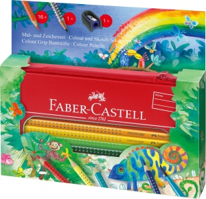 SET CADOU DESEN SI PICTURA COLOUR GRIP JUNGLE FABER-CASTELL