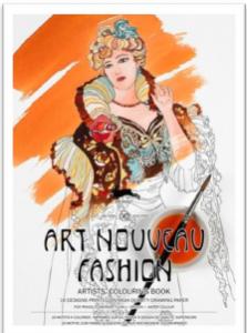 Carte de colorat Artist - Art Nouveau Fashion