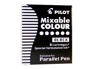 CARTUSE CERNEALA PILOT BLACK PARALLEL PEN, SET 6 BUC
