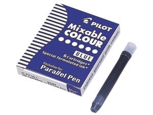 CARTUSE CERNEALA PILOT BLUE PARALLEL PEN, SET 6 BUC