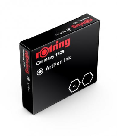 Cartuse ROTRING ArtPen Black set 6 buc