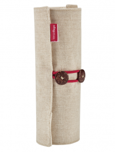 Etui Textil SenseBag Roll-up Crem pt 18 Instrumente de Scris