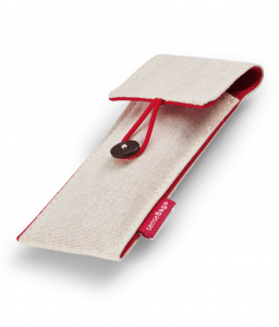 Etui Textil Creme Sensebag pt 2 Instrumente de Scris