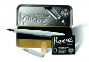 "Kaweco CALLIGRAPHY Set White ""S"" in Cutie"