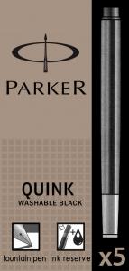 Cartuse Cerneala Parker Quink Washable Black set 5 buc
