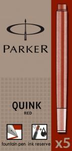 Cartuse Cerneala Parker Quink Red set 5 buc