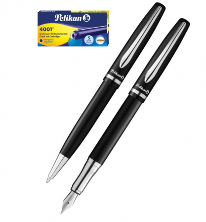 Set Stilou + Pix Jazz Elegance Black Pelikan