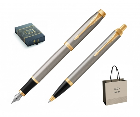 Set Stilou + Pix  Parker IM Royal Brushed Metal GT