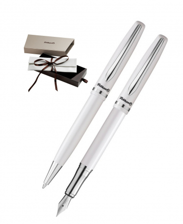 Set Stilou + Pix Jazz Elegance White Pelikan