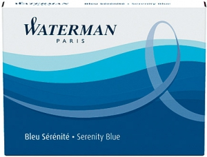 Cartuse Cerneala Waterman Serenity Blue set 8 buc