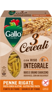 Paste făinoase integrale GALLO Penne Rigate 250 grame