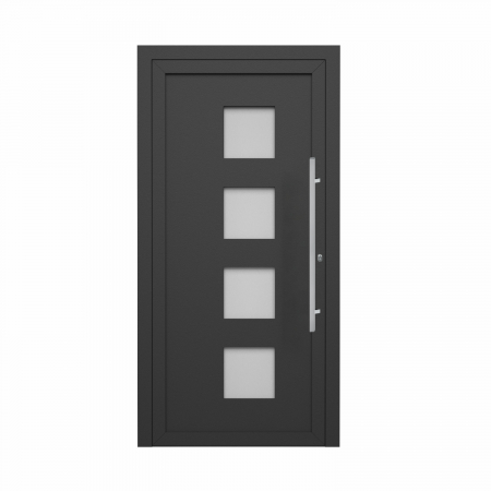 Henri, Porte d'entrée résidentielle premium, profilé ALU