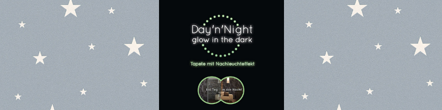 Tapet Day'n'Night - Glow in the dark