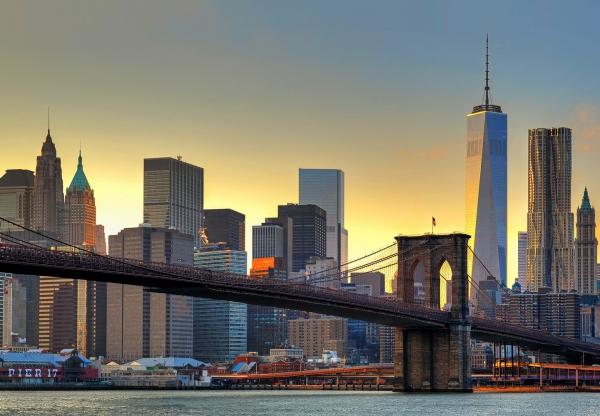 Fototapet 00148 Podul Brooklyn la apus 0