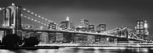 Fototapet XXL2-320 Brooklyn Bridge alb negru 0
