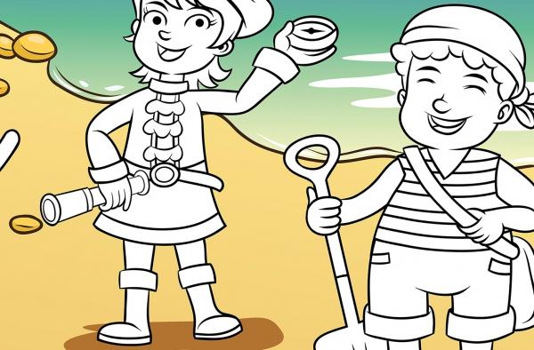 Fototapet 00606 Golful piratilor Color it yourself 1