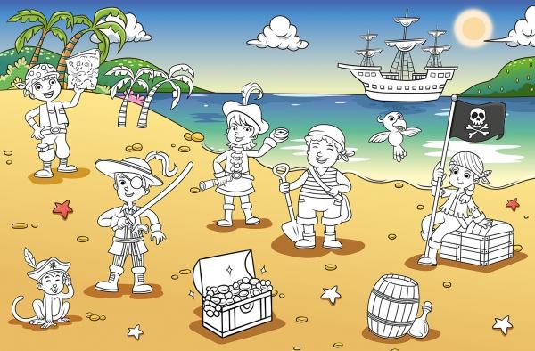 Fototapet 00606 Golful piratilor Color it yourself 0