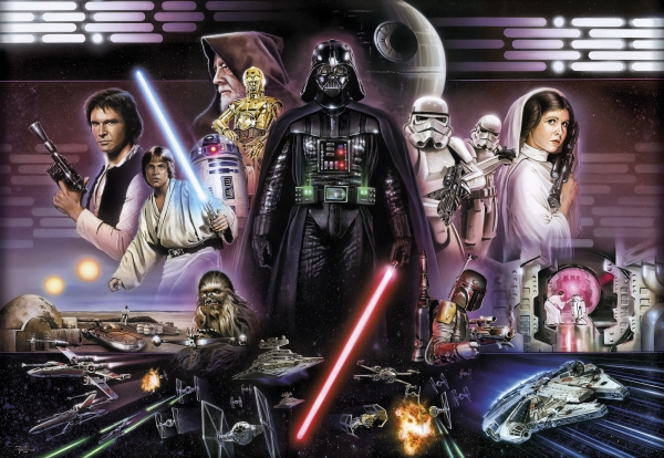 Fototapet 8-482 STAR WARS Darth Vader Collage 0