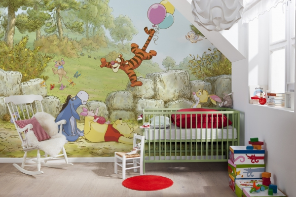 Fototapet 8-460 Winnie Pooh Ballooning 1