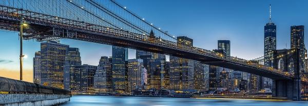 Fototapet 00863 Blue Hour over NY 0