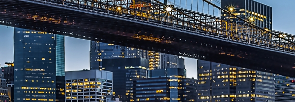 Fototapet 00863 Blue Hour over NY 1