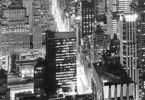 Fototapet 00956 New York - alb negru 1