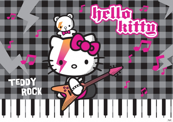 Fototapet 458 P4 Hello Kitty Rock 0