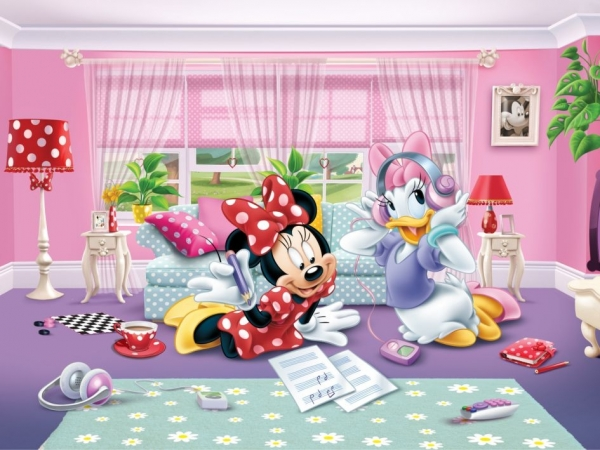 Fototapet FTDxxl 2229 Minnie & Daisy 0