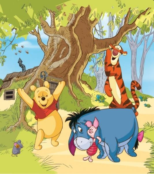 Fototapet FTDxl 1937 Winnie the Pooh inconjurat de prieteni