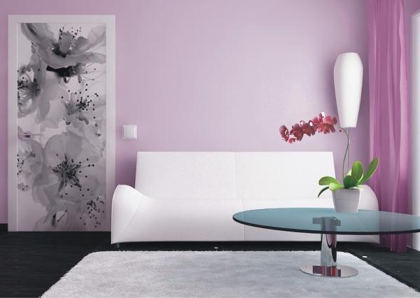 Fototapet FTV 0221 Floare alb si negru 1