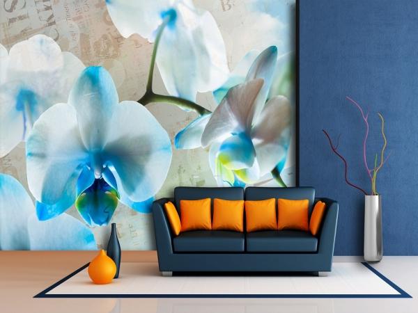 Fototapet FT 1433 Flori albastre 1