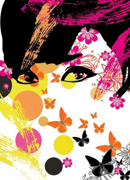 Fototapet 00439 Fata cu flori 0