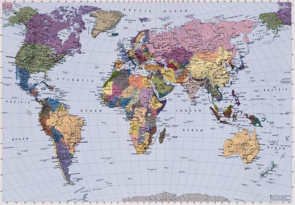 Fototapet 4050 Harta politica a lumii 0