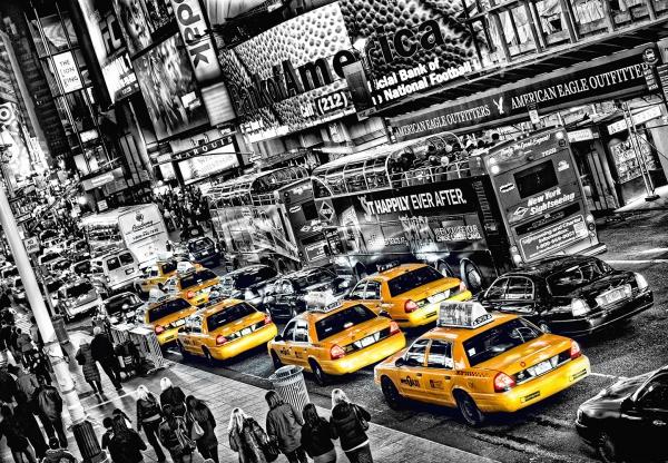 Fototapet 00116 Yellow Cab 0