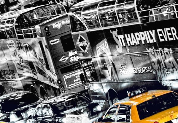 Fototapet 00116 Yellow Cab 1