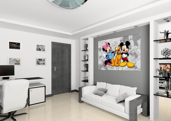 Fototapet FTDm 0284 Mickey, Minnie si Pluto