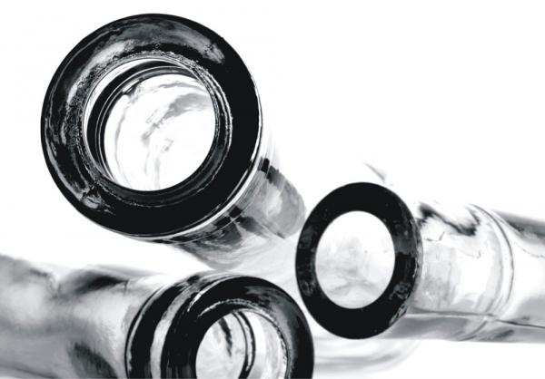 Fototapet FT 0368 Sticle in alb si negru