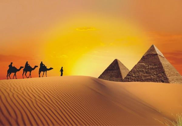 Fototapet FT 0195 Caravana si piramide