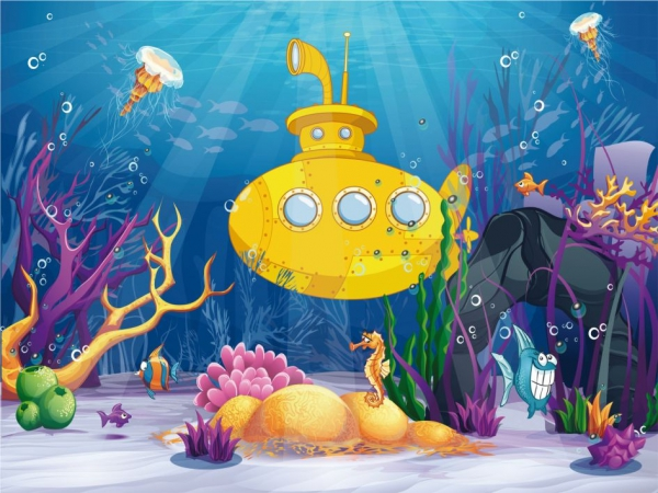 Fototapet FT 1459 Yellow Submarine 0