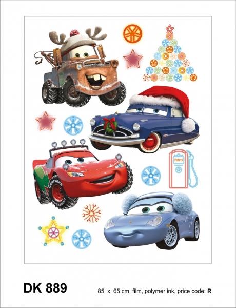 Sticker decorativ DK889 Cars de Craciun 0