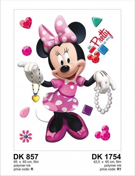 Sticker decorativ DK857 Minnie si bijuteriile 0