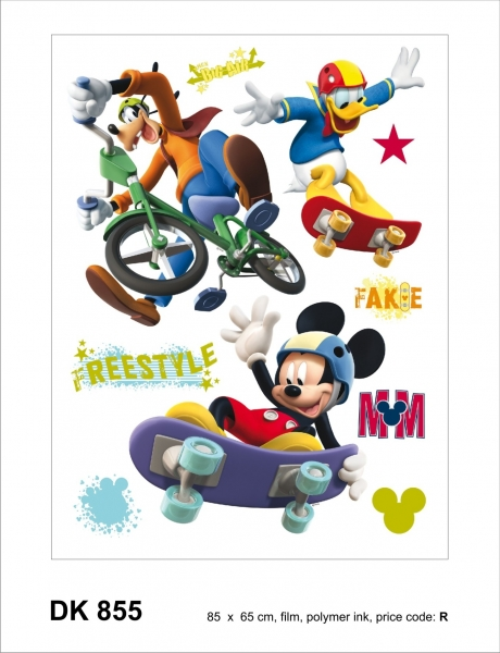 Sticker decorativ DK855 Mickey Mouse & prietenii
