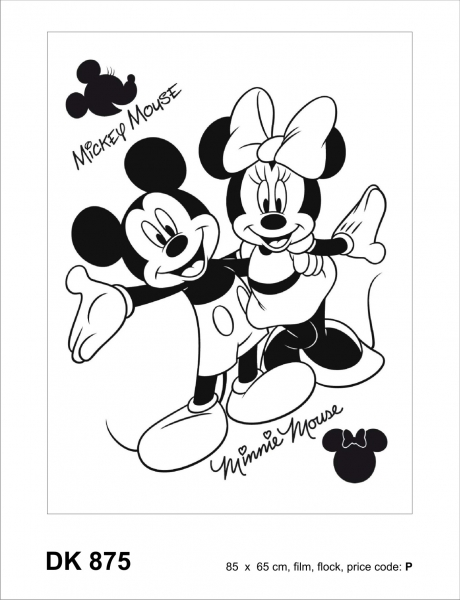 Sticker decorativ DK875 Mickey & Minnie 0