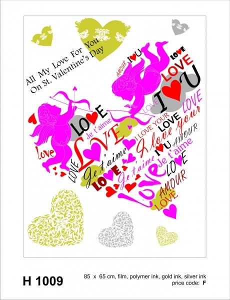 Sticker decorativ H1009 Valentine's Day