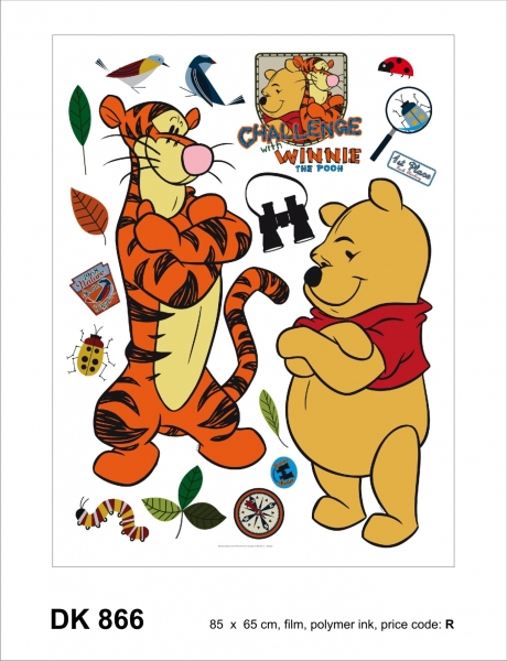 Sticker decorativ DK866 Winnie & Tigger 0