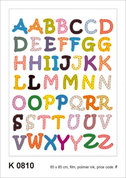 Sticker decorativ K0810 Alfabet