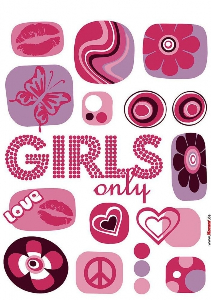 Sticker decorativ 17006 Girl's Only 1