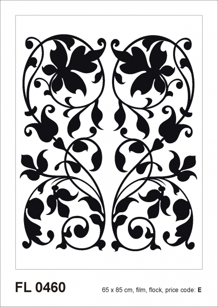 Sticker decorativ FL0460 Arabesque din catifea 0